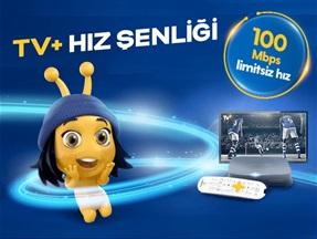 İşte TV+ ve Turkcell Fiber 100 Mbps Hız Şenliği Kampanyası